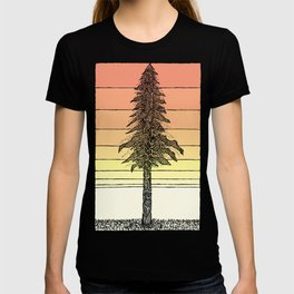Coastal Redwood Sunset Sketch T-shirt