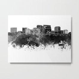 Arlington skyline in black watercolor Metal Print
