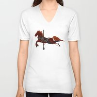 nori V-neck T-shirts featuring Nori by MarieJacquelyn