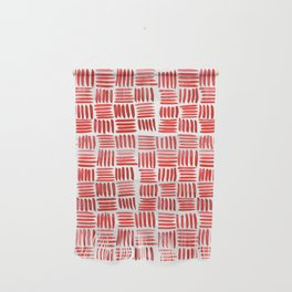 Red Parquet Wall Hanging