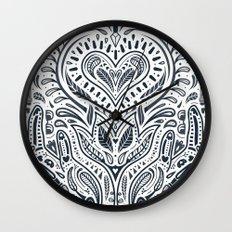 Folklore Pattern 3 Wall Clock