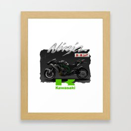 Ninja - Kawasaki T-Shirts And Accessories Framed Art Print