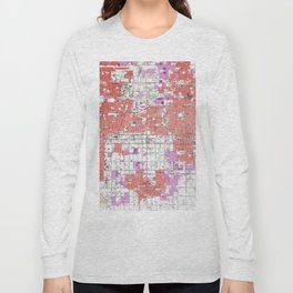 Vintage Ontario California & Surrounding Cities Map (1957) Long Sleeve T-shirt