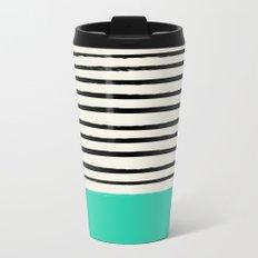 Mint x Stripes Metal Travel Mug