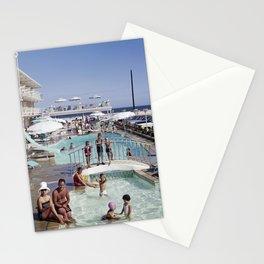 Shalimar Motel Pool 1960's, Wildwood, New Jersey, Retro Motel Stationery Cards