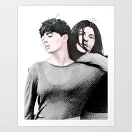 Carla and Sandra Art Print