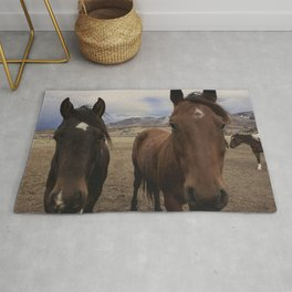 Horses Before the Storm Rug