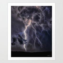 Stormy Weather - Purple Art Print