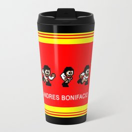 8-bit Andres 5 pose v2 Travel Mug