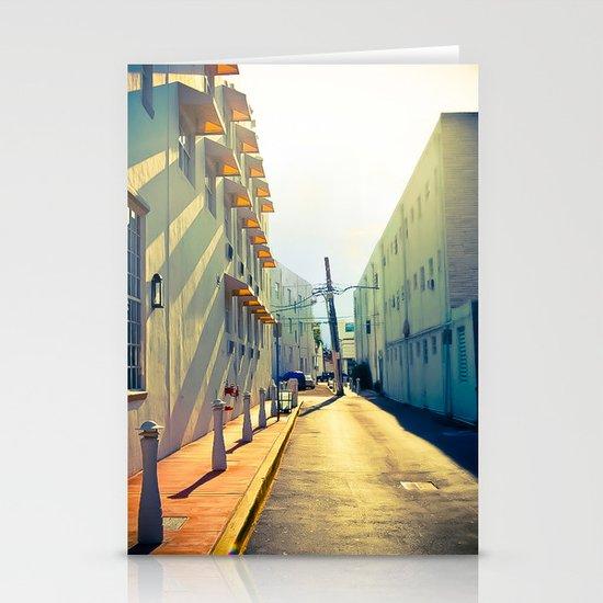 South Beach Sunrise Stationery Cards