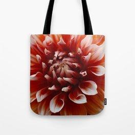 Cognac-Colored Dahlia Tote Bag