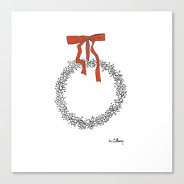 Holiday Wreath Canvas Print