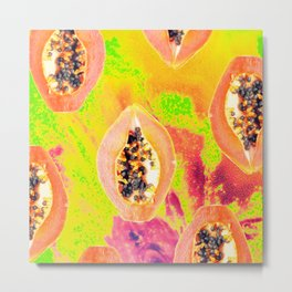 Papaya #society6 #decor #buyart Metal Print
