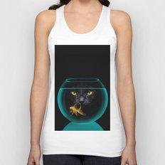 Black Cat Goldfish II Unisex Tank Top