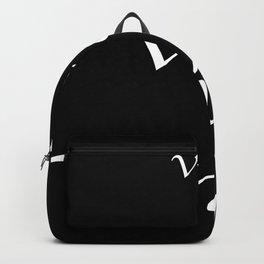 Veni Vidi Vici Black Backpack
