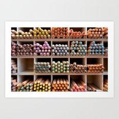 Coloured pencils Art Print