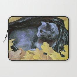 Gray Blue Cat Laptop Sleeve