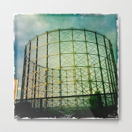 Gas Storage Tank Metal Print