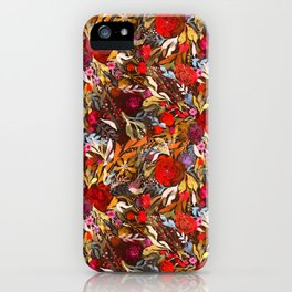 Moody Flower Joy iPhone Case