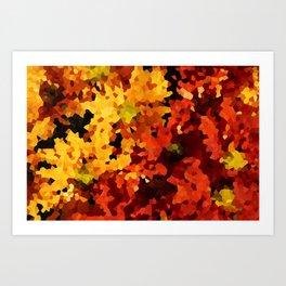 Yellow and Red Sunflowers Art Print
