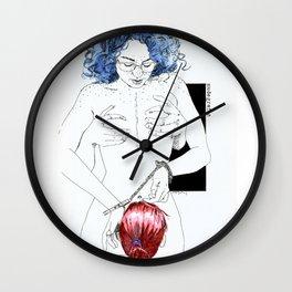 NUDEGRAFIA -25 bluehair Wall Clock