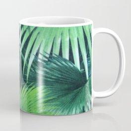 Tropical Botanic Jungle Garden Palm Leaf Green Coffee Mug