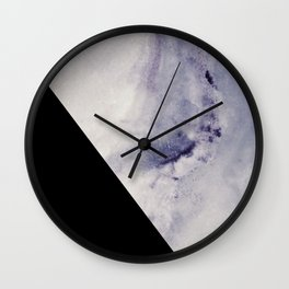 Blue Marble with Black Geometry Wall Clock