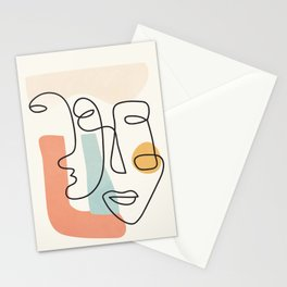 Abstract Faces 31 Stationery Cards