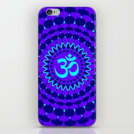 Purple Blue Mandala Om Yoga iPhone Skin