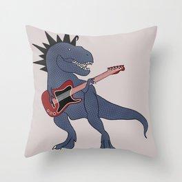He-Rex Electric Guitar Throw Pillow