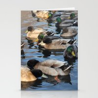 ducks Stationery Cards featuring Ducks by greenelent