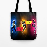 hip hop Tote Bags featuring Hip Hop by ezmaya
