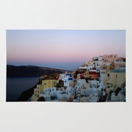 Dawn of Santorini Greece Rug