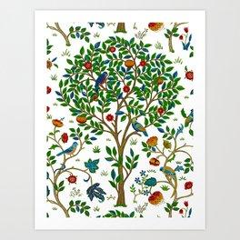 William Morris Tree of Life Pattern, Green & Multi Kunstdrucke