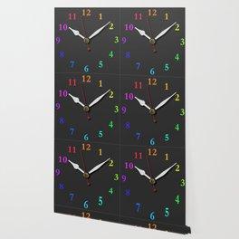 clock Chalkboard Wallpaper