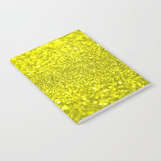 Bright Yellow Glitter Notebook