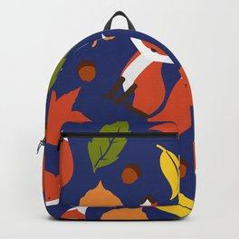 Fox Jumble - Blue Backpack