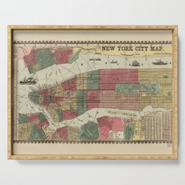 Miller's Map of the City of New York (1862) Serving Tray