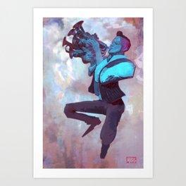 Blues Sky Art Print