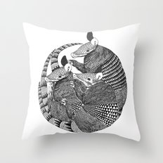 armadillos  Throw Pillow