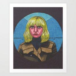 Blue Monday Blonde Art Print