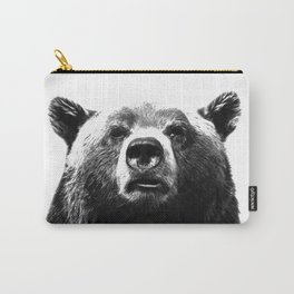 Black and white bear portrait Carry-All Pouch