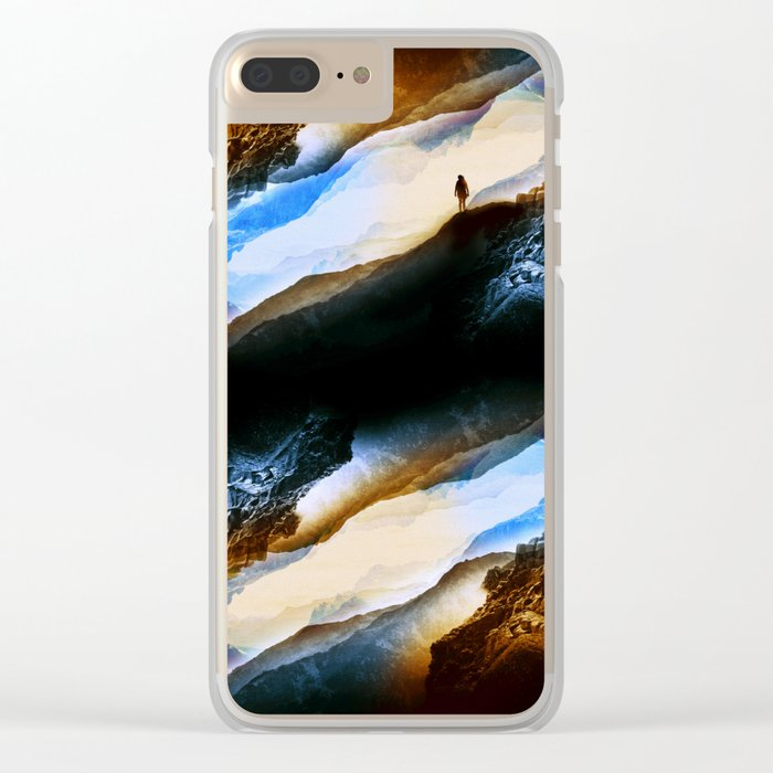 Vision of fire and ice Clear iPhone Case