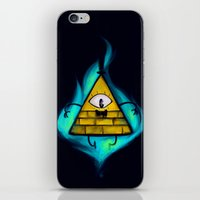 bill cipher iPhone & iPod Skins featuring Gravity Falls- Bill Cipher  by merrigel