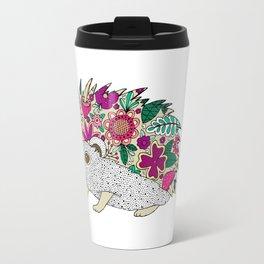 Woodland Hedgehog Illustration Travel Mug