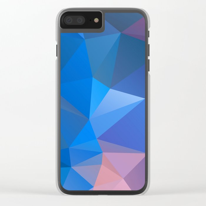 Colored polygon pattern.Amethyst. Clear iPhone Case