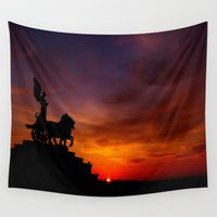 italian Wall Tapestries featuring Italian Sunset by Ruby Tedeschi