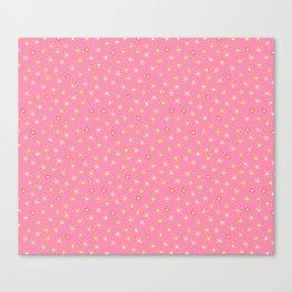 Tiny Pink Flowers Canvas Print