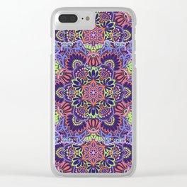 Casey Mandalas Clear iPhone Case