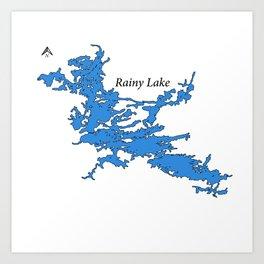 Rainy Lake Art Print